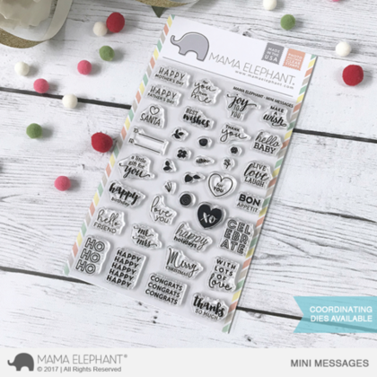 Sellos Mama Elephant - Mini Messages