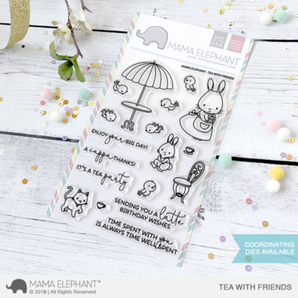 Sellos Mama Elephant - Tea With Friends