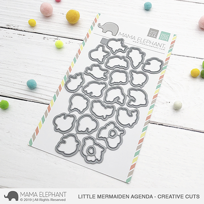 Mama Elephant - Little Mermaiden Agenda - Creative Cuts