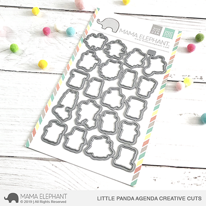 Mama Elephant - Little Panda Agenda - Creative Cuts