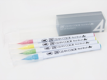 Set 4 Rotulador Zig Clean Color Real Brush - Pop Colours