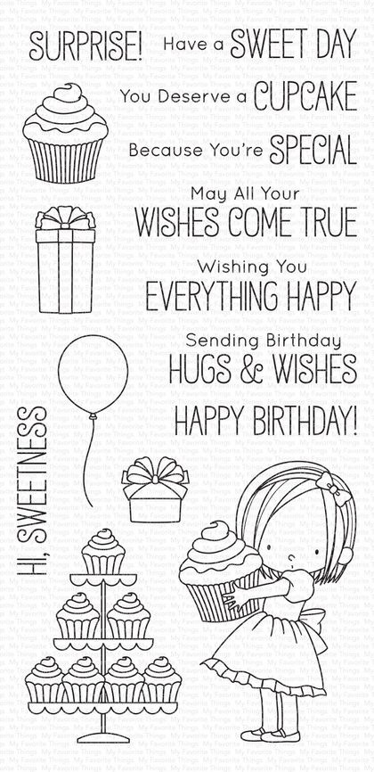 Set de sellos My Favorte Things - Sweet Birthday Wishes