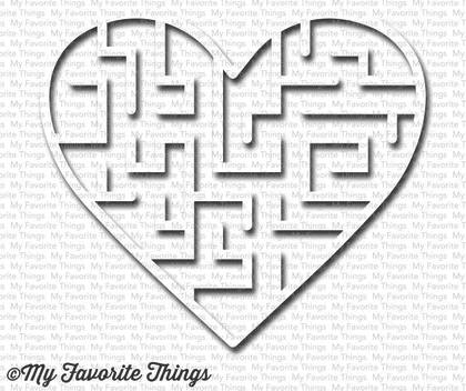 Shaker - Heart Maze Shapes - White