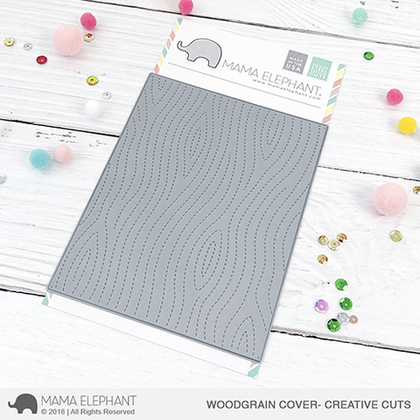 Mama Elephant - Woodgrain Cover - Creative Cuts