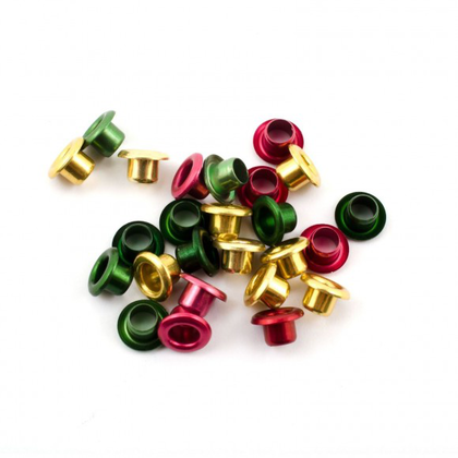 Eyelets metallic 1/8'' christmas 25 pcs