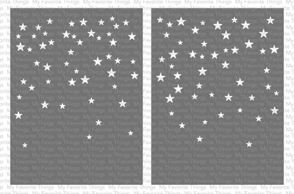 Stencil - Card-Sized Star Confetti