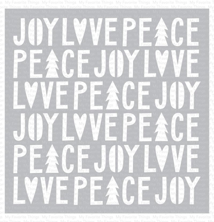 Stencil - Peace, Love, and Joy