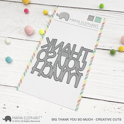 Mama Elephant - Big Thank You So Much - Creative Cuts