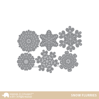 Mama Elephant - Snow Flurries - Creative Cuts
