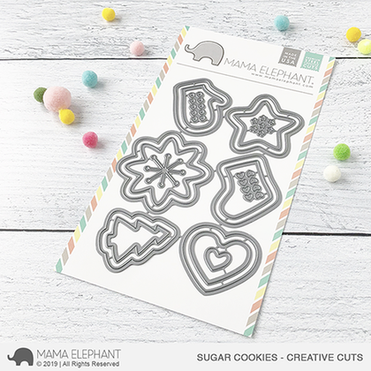 Mama Elephant -  Sugar Cookies  - Creative Cuts