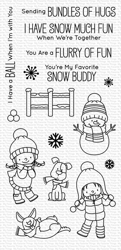Set de sellos My Favorte Things - BB Snow Buddies WS