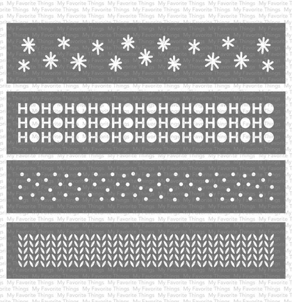 Stencil - Winter Stencil Strips WS