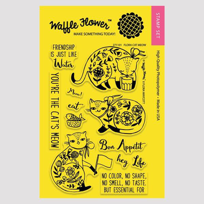 Flora Cat Meow Stamp Set