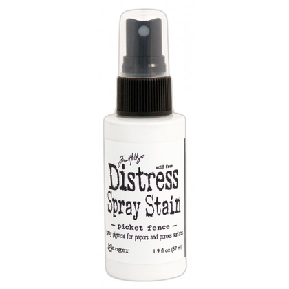 Distress SatinSpray - stain picket fence