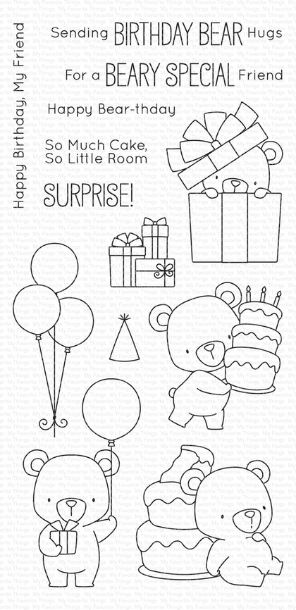 Set de sellos My Favorte Things - BB Beary Special Birthday