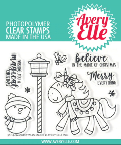 Sellos Avery Elle - Christmas Magic
