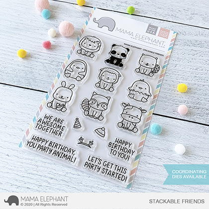 Sellos Mama Elephant - Stackable Friends