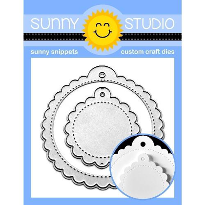 Scalloped Tag Circle Die