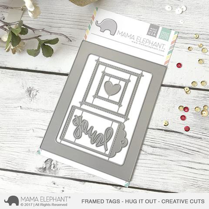 Mama Elephant - Framed Tags -Ug It Out - Creative Cuts