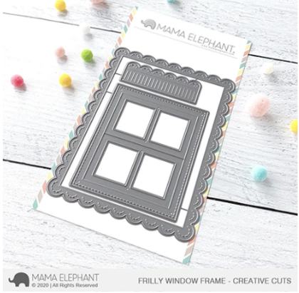 Mama Elephant - Frilly Window Fram - Creative Cuts