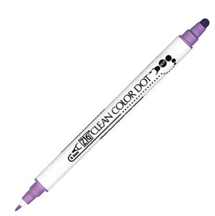 Kuretake Rotulador Clean Color Dot - Hyacinth