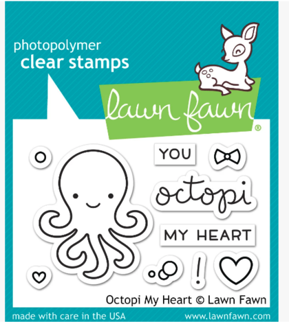Sellos Lawn Fawn - Octopi my heart