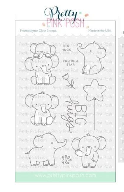 Set de sellos Pretty Pink Posh - Elephant Friends
