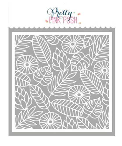 Stencil Pettry Pink Posh - Jungle Background