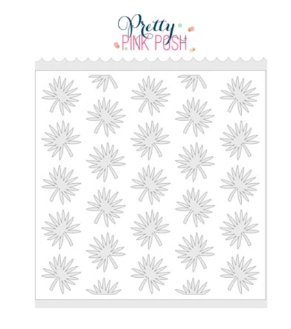 Stencil Pettry Pink Posh - Tropical Leaves