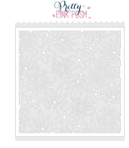 Stencil Pettry Pink Posh - Tropical Background