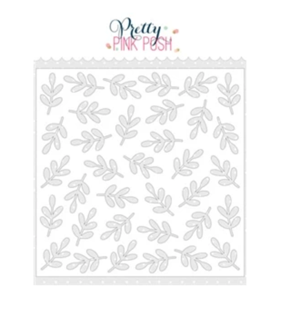 Stencil Pettry Pink Posh - Leaves