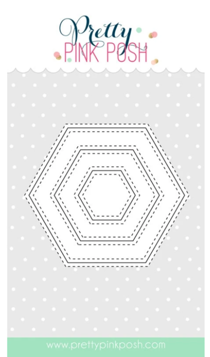 Troquel Pretty Pink Posh - Stitched Hexagons
