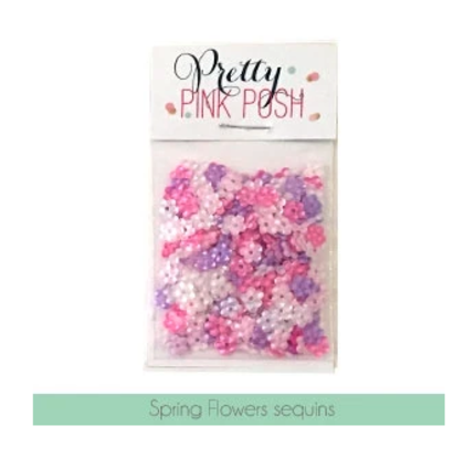 Pretty Pink Posh - Spring Flowers Sequins Mix