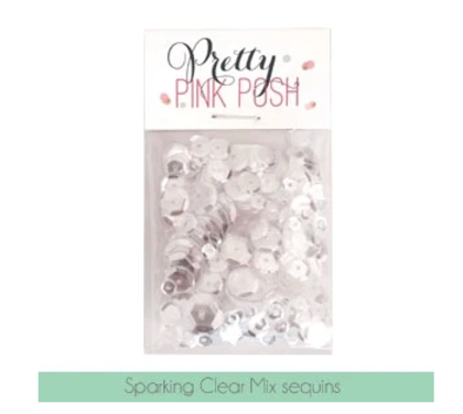 Pretty Pink Posh - Sparkling Clear Sequins Mix