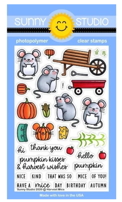 Harvest Mice Stamps