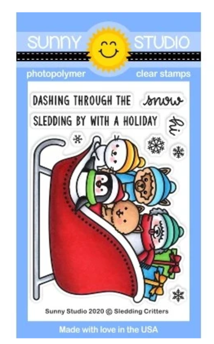 Sledding Critters Stamps