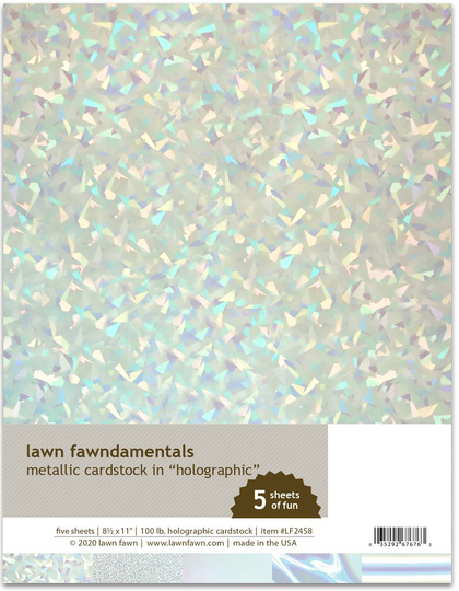 Set Metallic Cardstock - holographic