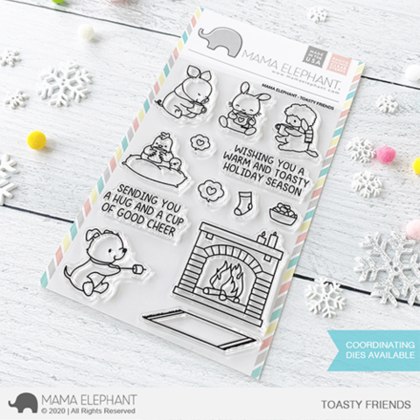 Sellos Mama Elephant - Toasty Friends