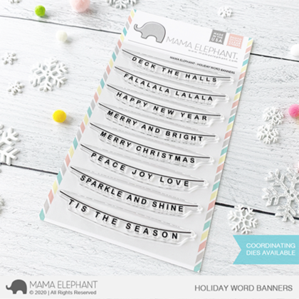 Sellos Mama Elephant - Holiday Word Banners