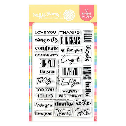 Classic Sentiments Stamp Set