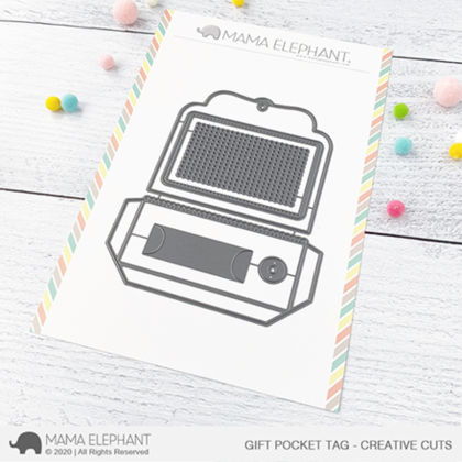 Mama Elephant - Gift Pocket Tag - Creative Cuts