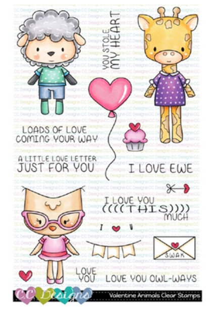 C.C Designs - Valentine Animals