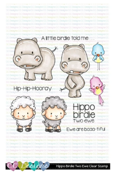 C.C Designs - Hippo Birdie Two Ewe