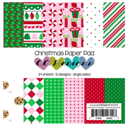 C.C Designs - Pad Christmas 6''x6''