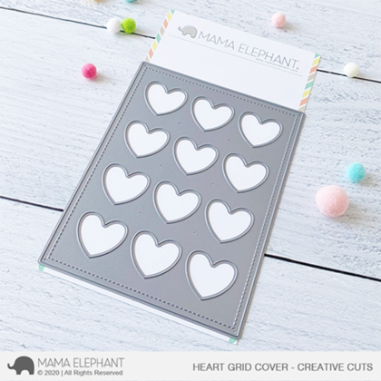 Mama Elephant - Heart Grid Cover - Creative Cuts