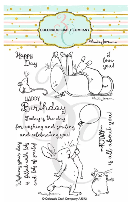 Set de sellos - Anita Jeram~Birthday Wishing