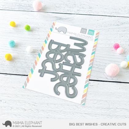 Mama Elephant - Big Best Wishes - Creative Cuts
