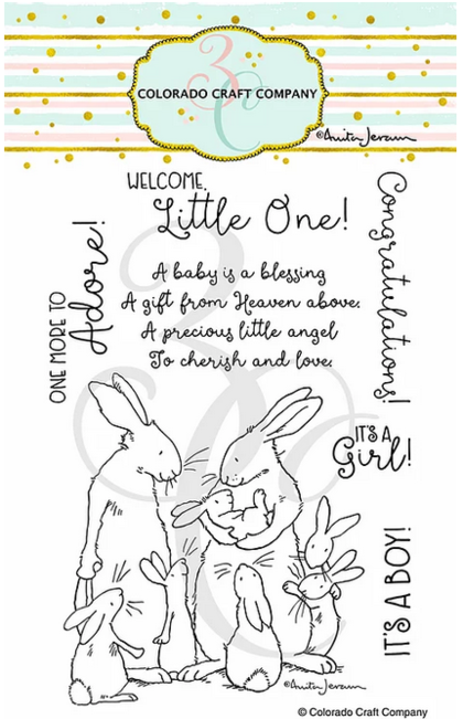 Set de sellos - Anita Jeram~New Baby