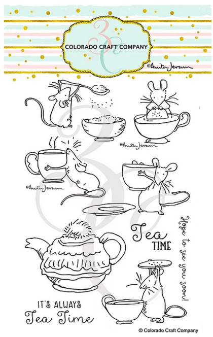 Set de sellos - Anita Jeram~Tea Time Fun