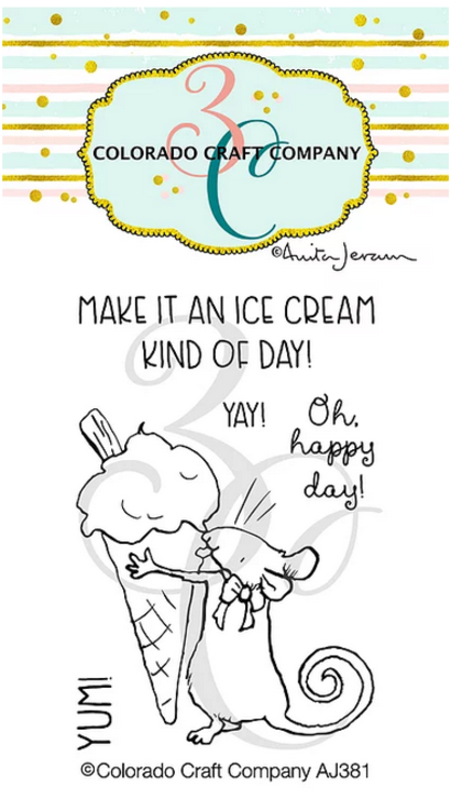 Set de sellos - Anita Jeram~Ice Cream Day Mini